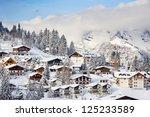 winter in the swiss alps ...   Shutterstock . vector #125233589