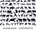 Stock vector animals collection silhouette 1252346731