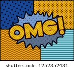 expression bubble with omg pop...   Shutterstock .eps vector #1252352431