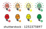 check box yes no bulb idea... | Shutterstock .eps vector #1252375897