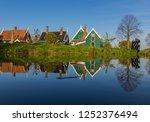 zaanse schans  netherlands  ... | Shutterstock . vector #1252376494
