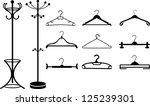 clothes hangers | Shutterstock .eps vector #125239301