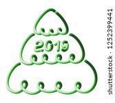 2019  christmas tree  three... | Shutterstock .eps vector #1252399441