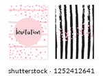 bridal shower card with dots... | Shutterstock .eps vector #1252412641