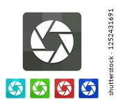 aperture   colorful app icon | Shutterstock .eps vector #1252431691
