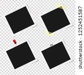 set of realistic vector... | Shutterstock .eps vector #1252451587