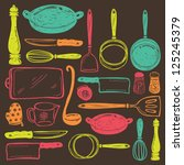 accessory,assortment,backdrop,background,bakery,chef,cooking,cooking timer,cooking utensils,cutlery,design,dinner,dish,doodle,drainer