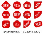 red new sale labels set. vector ... | Shutterstock .eps vector #1252464277