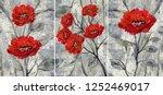 collection of designer oil... | Shutterstock . vector #1252469017