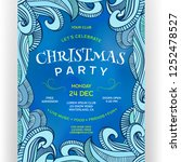poster for christmas party.... | Shutterstock .eps vector #1252478527