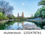 three towers reflection of... | Shutterstock . vector #1252478761