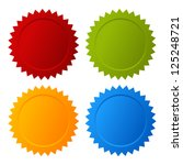 vector blank seals set | Shutterstock .eps vector #125248721