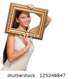 portrait of a young woman... | Shutterstock . vector #125248847