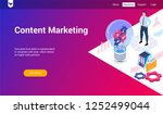 isometric landing page template ... | Shutterstock .eps vector #1252499044