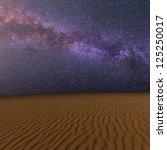 Night Sandy Desert