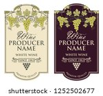collection of vintage labels... | Shutterstock .eps vector #1252502677
