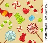 delicious sweet candies in... | Shutterstock .eps vector #1252504147