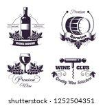 wine club house logo templates...   Shutterstock .eps vector #1252504351