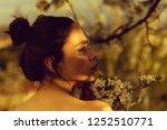 springtime. girl or adorable...   Shutterstock . vector #1252510771