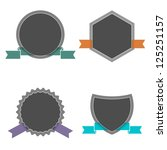 four labels in retro style.... | Shutterstock . vector #125251157