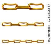 gold chain vector   Shutterstock .eps vector #1252516567