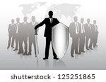 group of businessmen against...   Shutterstock .eps vector #125251865