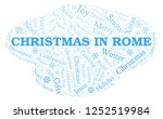 christmas in rome word cloud. | Shutterstock . vector #1252519984
