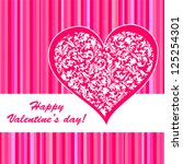 valentine's day card.... | Shutterstock .eps vector #125254301