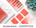 color palette guide in mobile... | Shutterstock . vector #1252547224