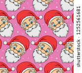 pattern head santa claus ... | Shutterstock .eps vector #1252561681