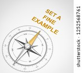 magnetic compass with needle... | Shutterstock . vector #1252568761
