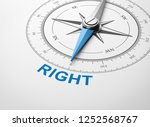 magnetic compass with needle... | Shutterstock . vector #1252568767