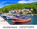 beautiful green skopelos island ... | Shutterstock . vector #1252572094