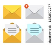 letter in mail envelope.... | Shutterstock . vector #1252572277
