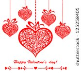 happy valentine's day ... | Shutterstock .eps vector #125258405