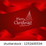 merry christmas background | Shutterstock .eps vector #1252600534
