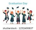 graduate students. graduation... | Shutterstock .eps vector #1252600837