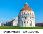 day view of pisa cathedral with ... | Shutterstock . vector #1252609987