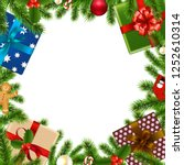 merry christmas border with... | Shutterstock .eps vector #1252610314