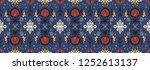 seamless floral pattern folk... | Shutterstock .eps vector #1252613137