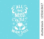 winter hand drawn lettering... | Shutterstock .eps vector #1252613617