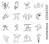 sketch figures and emotions   3 | Shutterstock .eps vector #125261537