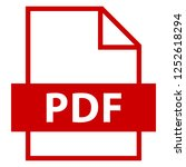 filename extension icon pdf... | Shutterstock .eps vector #1252618294