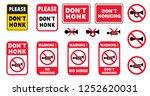 no claxon honking honk horn... | Shutterstock .eps vector #1252620031