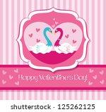 swan in love | Shutterstock .eps vector #125262125