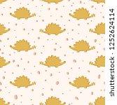hand drawn seamless pattern...   Shutterstock .eps vector #1252624114