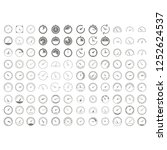 set of monochrome icons with... | Shutterstock .eps vector #1252624537