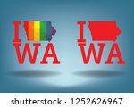 iowa with map design concept... | Shutterstock .eps vector #1252626967