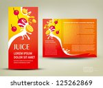 brochure folder juice fruit... | Shutterstock .eps vector #125262869