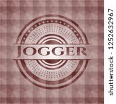 jogger red seamless emblem or... | Shutterstock .eps vector #1252632967